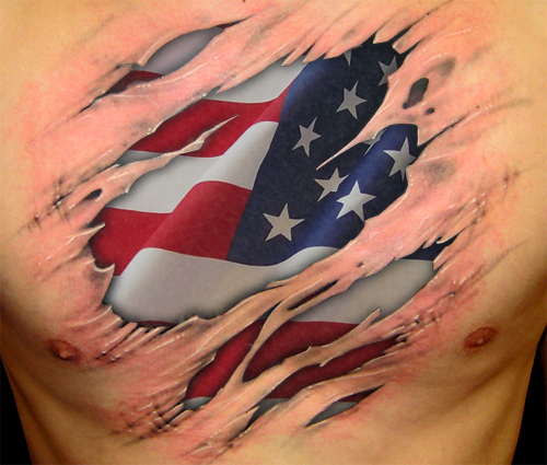 Puerto Rican Flag As a Tattoo Designs